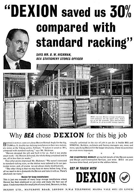 Dexion Storage Racking System 1957
