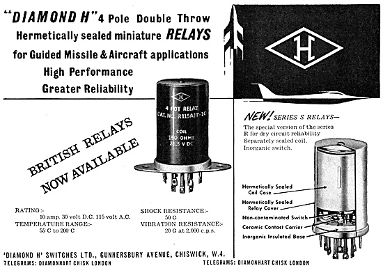 Diamond H Relays- Aircraft Electrical Equipment.