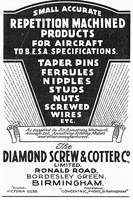 Diamond Screw & Cotter Repetition Parts For Aircraft