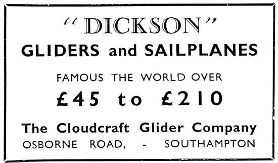 Dickson Gliders & Sailplanes - Cloudcraft Glider Co