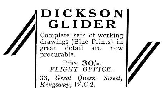 Dickson Gliders & Sailplanes