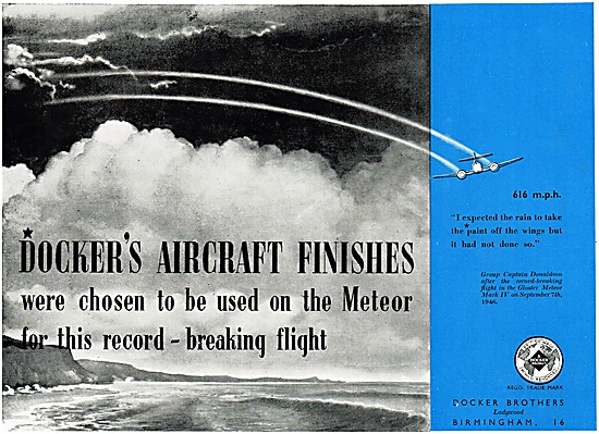 Dockers Aircraft Paints & Finishes 1947