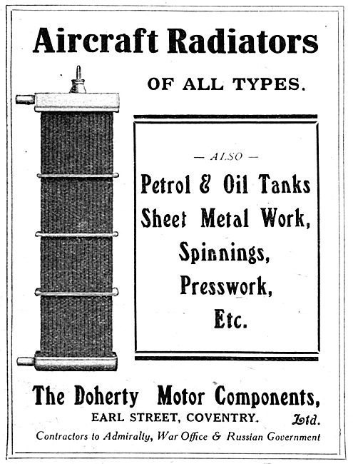 Doherty Motor Components  - Aero Engine Radiators