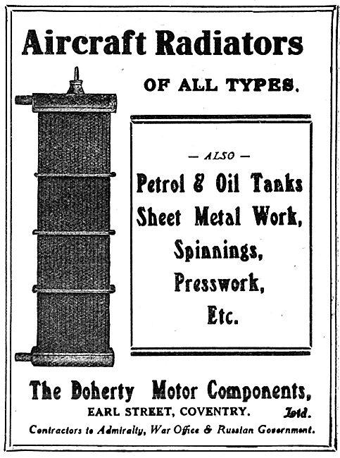 Doherty Motor Components  -  Aircraft Radiators