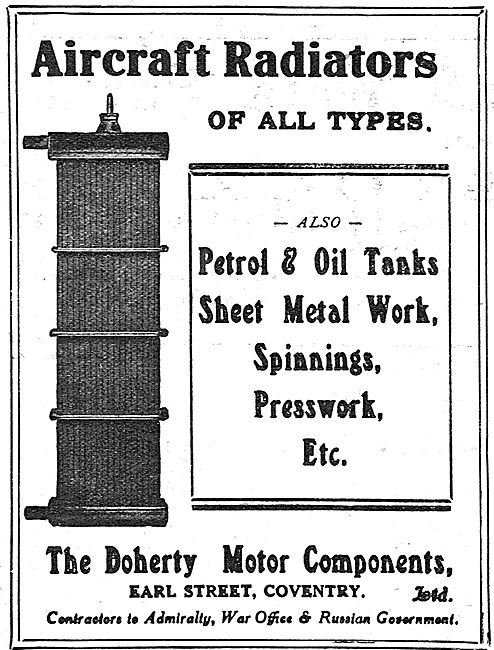 Doherty Motor Components  - Petrol & Oil tanks For Aircraft