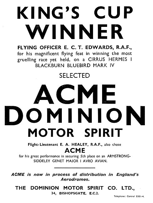 Acme Dominion Acme Dominion Motor Spirit 1931