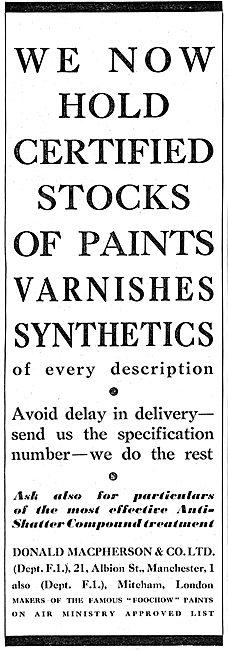 Donald Macpherson & Co : Paints & Varnishes. FOOCHOW Paints