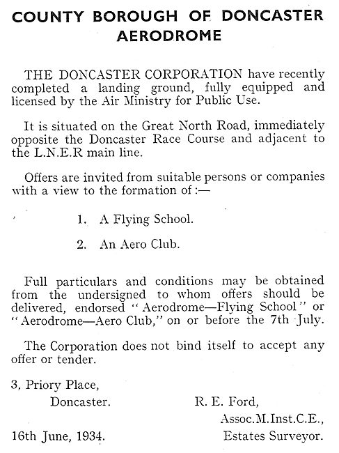 Doncaster Airport - Doncaster Corporation