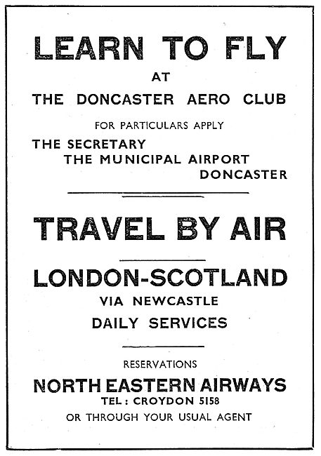 Doncaster Airport - The Eastern Junction. Doncaster Aero Club