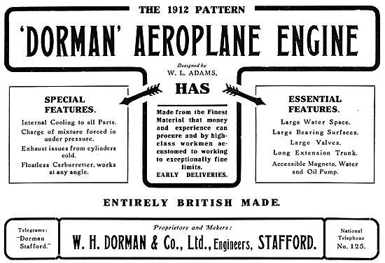 Dorman Aeroplane Engine
