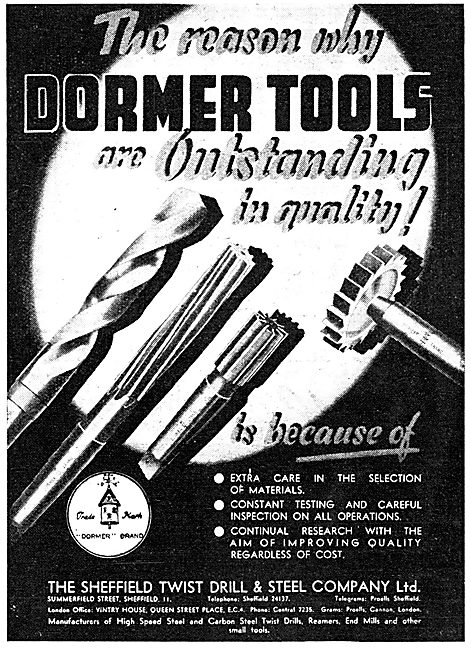 Dormer Tools Dormer Drills 1943 Advert