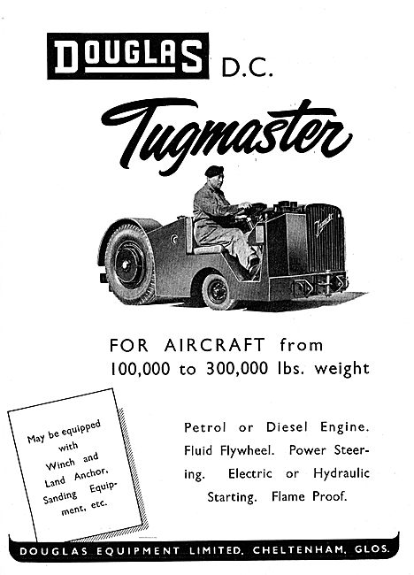 Douglas Tugmaster For Aircraft From 100,000 to 300,000 lbs Weight