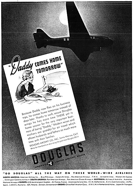 Douglas Commercial Aircraft 1938 Advert