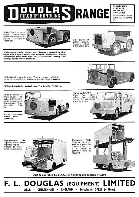 Aero-Douglas Aircraft & Passenger Handling Tractors - Tugmaster