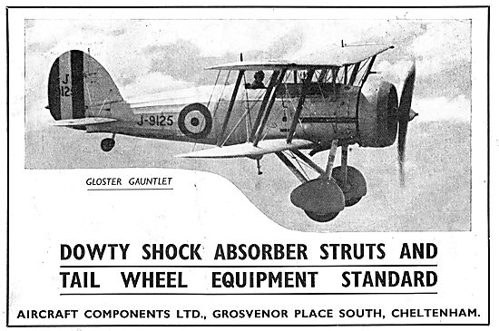 Dowty Aircraft Undercarriage Shock Absorbers: Gloster Gaunrlet