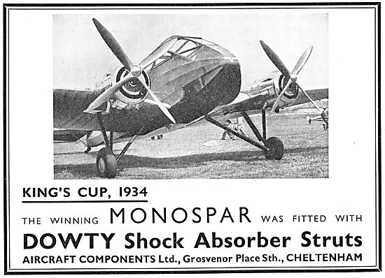Dowty Aircraft Shock Absorber Struts
