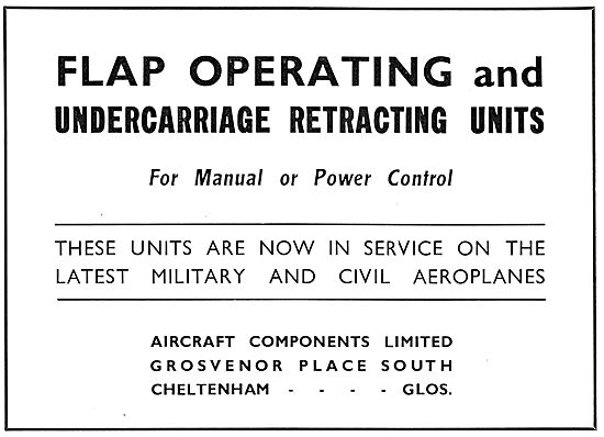 Dowty Aircraft Undercarriage Retracting Units 1934