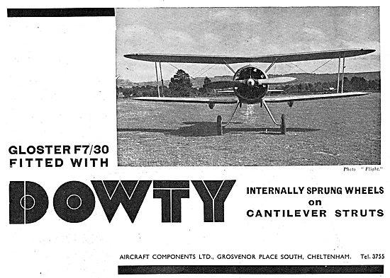 Dowty Internally Sprung Aircraft Wheels : Gloster F7/30