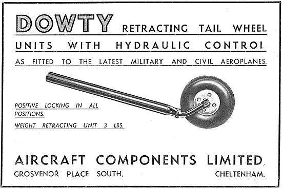 Dowty Aircraft Retracting Tail Wheel - Hydraulic
