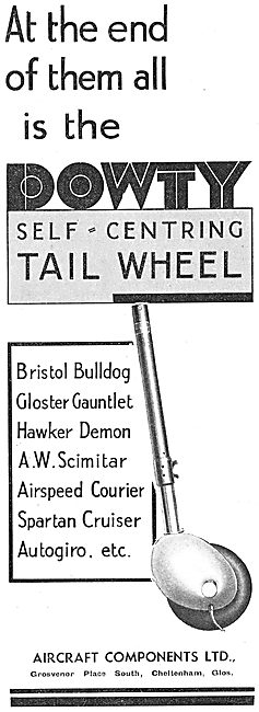 Dowty Self-Centering Aircraft Tail Wheel