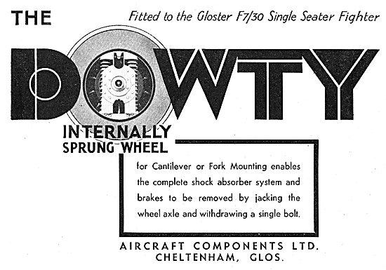 Dowty Internally Sprung Aircraft Wheels