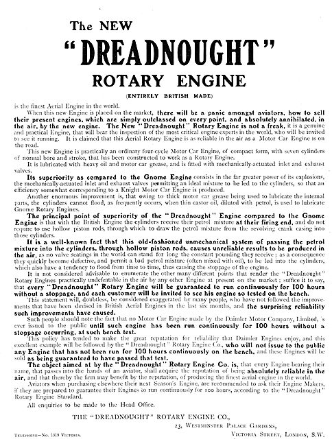 Dreadnought Rotary Engine Co