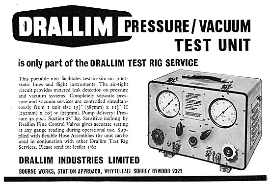 Drallim Industries. Pressure / Vacuum Test Unit