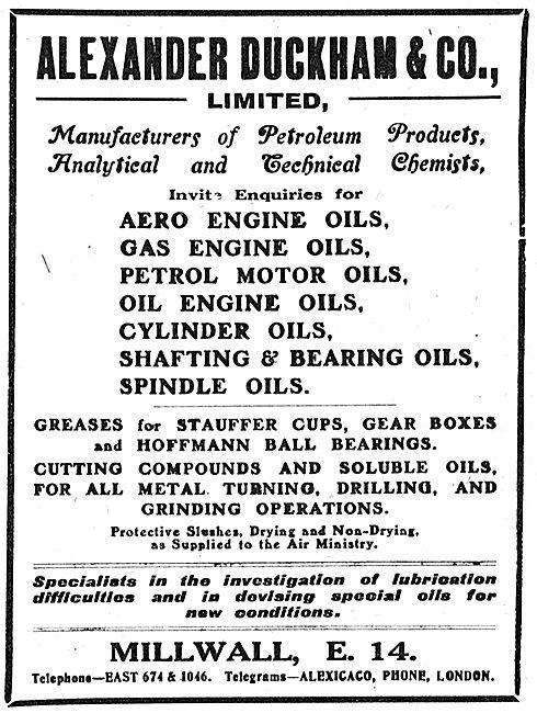 Duckhams Aero Engine Oils
