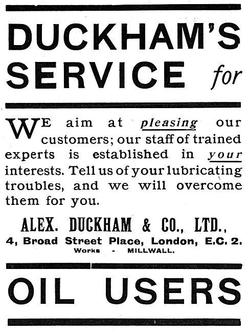 Duckhams Oils - 1919 Advert