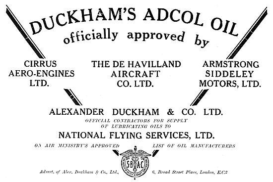 Duckhams Adcol Aero Oil 1929