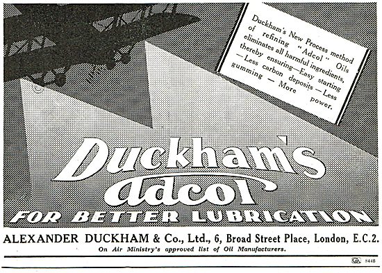 Duckhams Adcol NP5 - Air Ministry Approved Oil Manufacturers