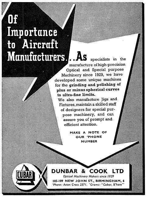 Dunbar & Cook Optical & Special Purpose Machinery