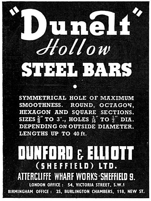 Dunford & Elliott. Hollow Steel Bars