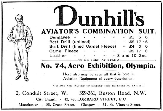 Dunhill's Flying Clothing - Dunhill's Aviators Combination Suit