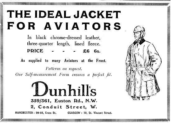 Dunhills Aviators Jackets As Supplied To Many At The Front £6.6s