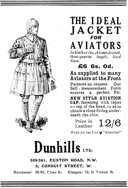The Ideal Jacket For Aviators From Dunhills