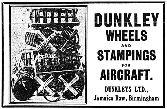Dunkleys. Jamaica Row. Birmingham.  Aircraft Wheels & Stampings