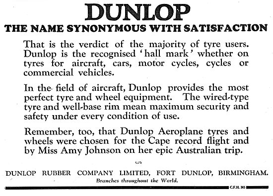 Dunlop - The Name Synonymous With Satisfaction.