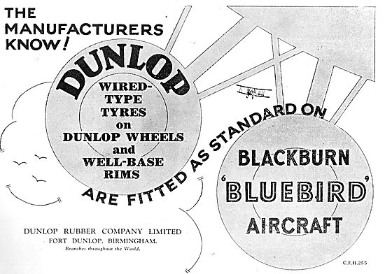 Dunlop Tyres Specified For The Blackburn Bluebird