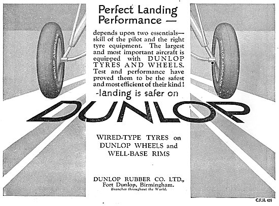 Dunlop For Perfect Landing Performance