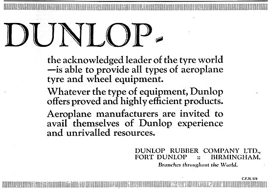 Dunlop - Acknowledged Leaders In The Tyre World