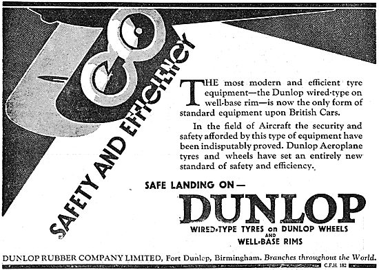 Dunlop Safety And Efficiency For Aircraft