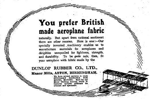 Dunlop British Made Aeroplane Fabric