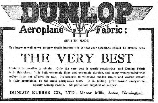 Dunlop British Made Aeroplane Fabrics Are The Very Best