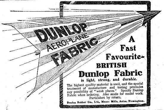 Dunlop Aeroplane Fabric - A Fast British Favourite
