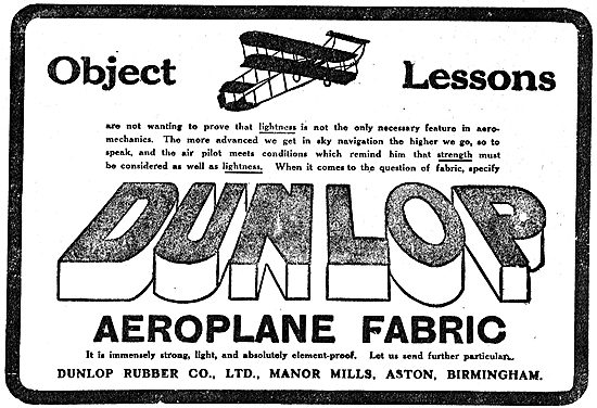 Dunlop Aeroplane Fabric Object Lessons