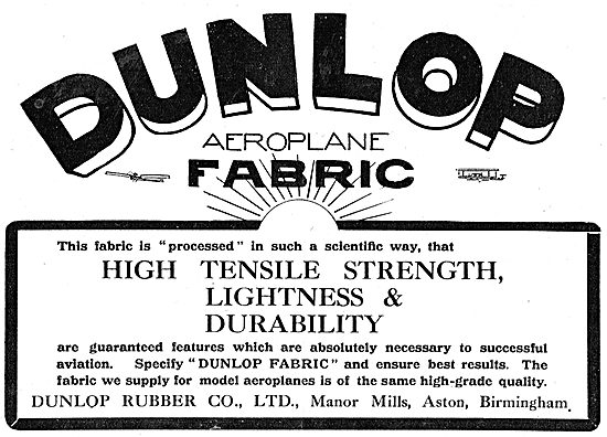 Dunlop Aeroplane Fabric Has Great High Tensile Strength