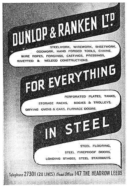 Dunlop & Ranken. Steel Stockist. Structural Steelwork