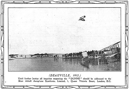 Dunne Safety Aeroplane Flying At Deauville 1913