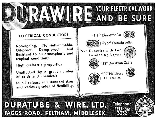 Duratube & Wire. Durawire Electrical Wire 1943